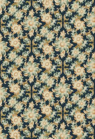 vintage floral wallpaper -vector Stock Vector - 7343910