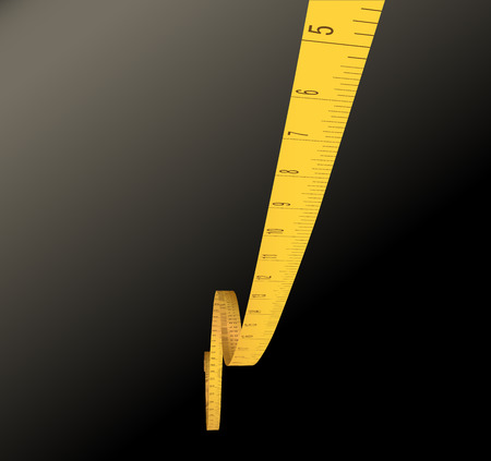 inches: measure tape - inches-  Illustration