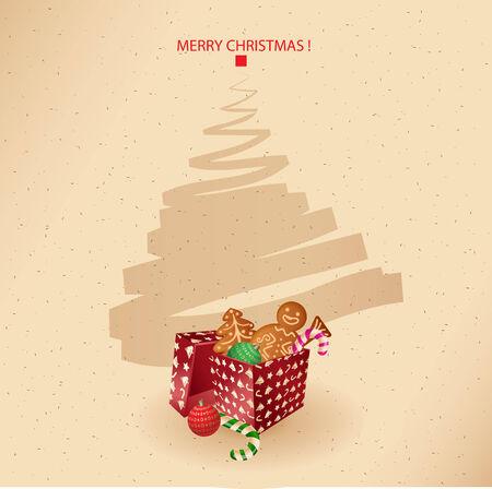 Christmas Greeting Card-heute, süß und Gewürzkuchen Kuchen-