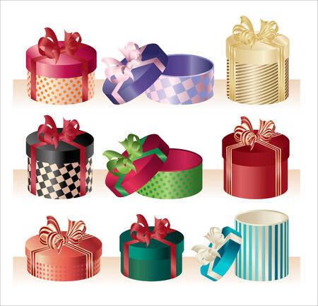 wrap: christmas round boxes -