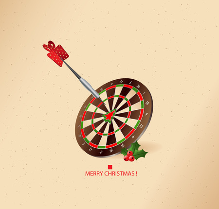 aiming: Aiming in the right point - christmas greeting card