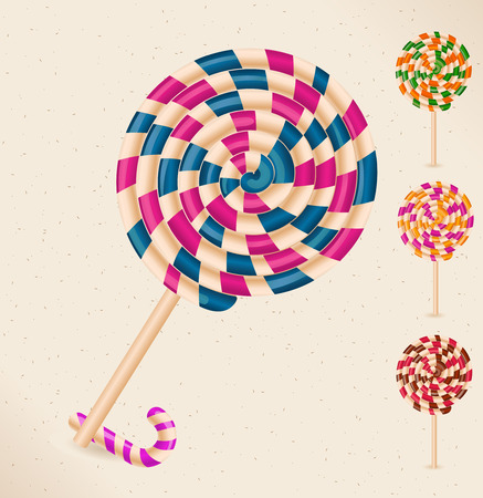 sugarplum: 4 lollipops and a candy cane - objects-