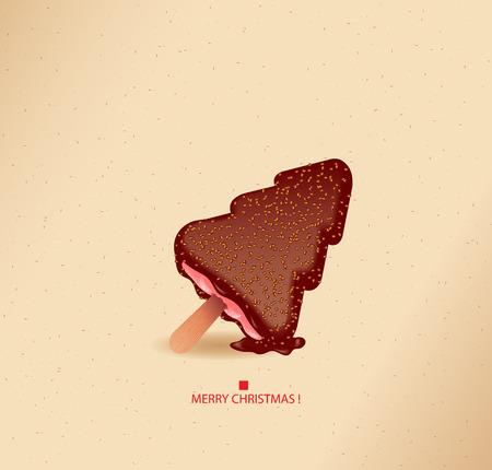cioccolato natale: Come dolce come pu� essere-Natale albero gelato-