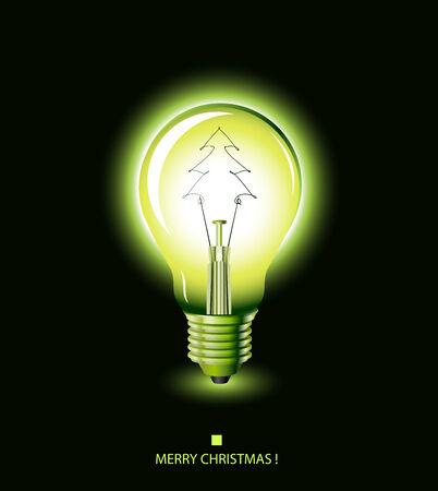 christmas bulbs: christmas tree light bulb - green -