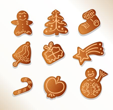gingerbread cookies - Stock Vector - 7373689