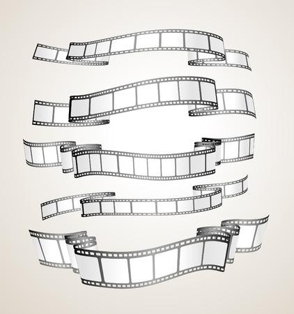 banner striscia di pellicola - bianco e nero-