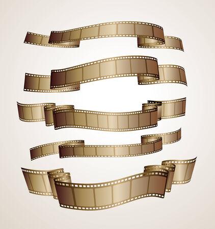 banner striscia di pellicola - marrone- Vettoriali