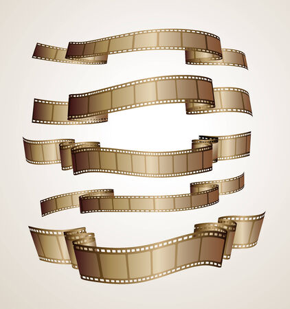 film strip banners - brown - Vector