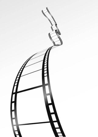 esporre: striscia di pellicola vuota.