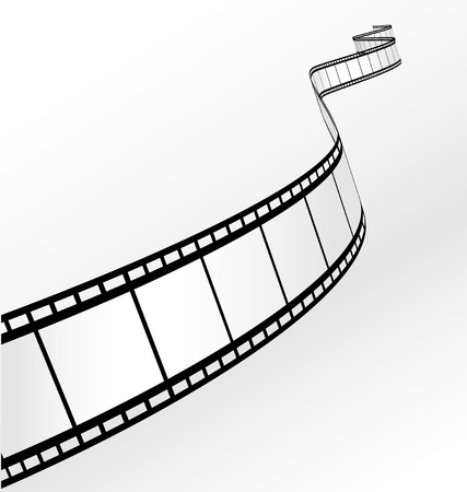 film camera: blank film strip  Illustration