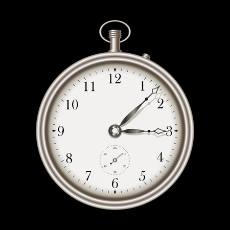 pocket watch: pocket clock Illustration
