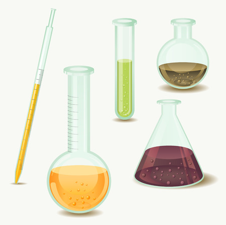 laboratory glass: laboratory bottles