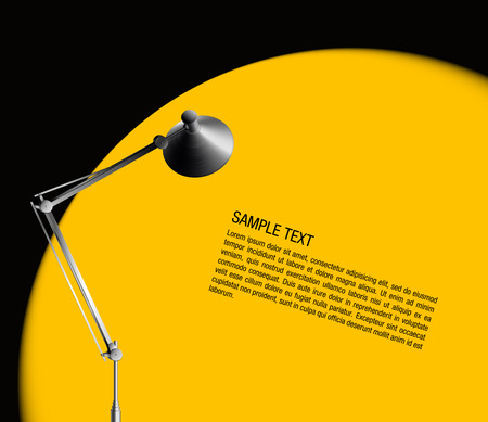 desk lamp with yellow light