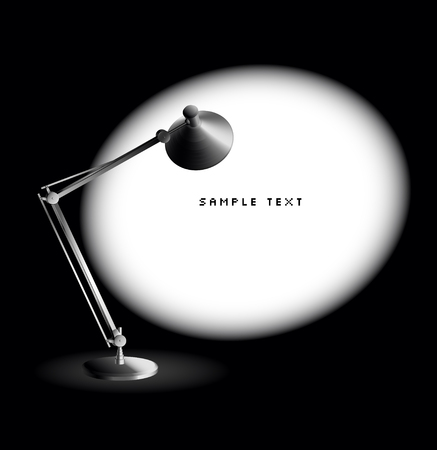 lampada: Lampada da tavolo  Vettoriali