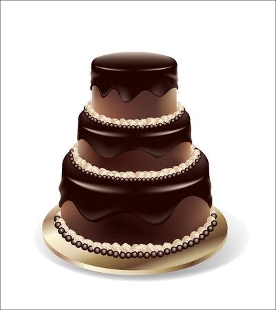 chocolate cake -isolated  Vector
