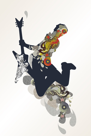 guitarist - decorative music background