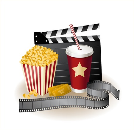 clapper: movie items Illustration