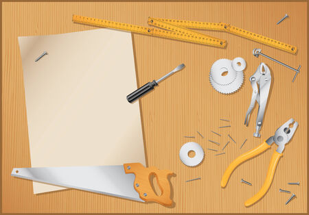 under construction - tools background-vector Stock Vector - 7482560