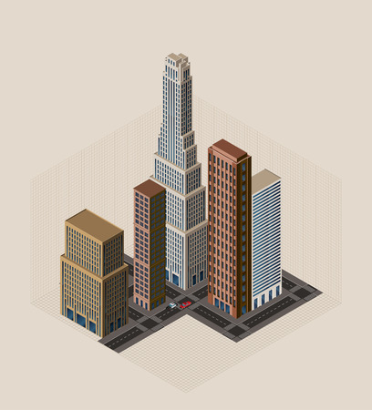 isometric buildings Stock Vector - 7597789