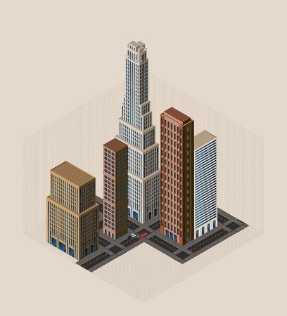 isometric buildings Stock Vector - 7597789