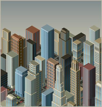 city-isometric  Illustration