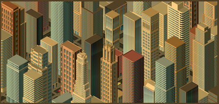 city isometric perspective