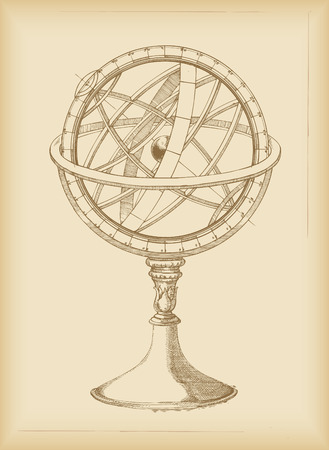 Armillary Sphere - drawing