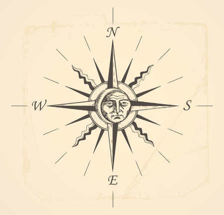 vintage compass rose  Stock Vector - 7716927