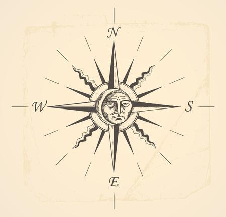 compass rose: vintage compass rose