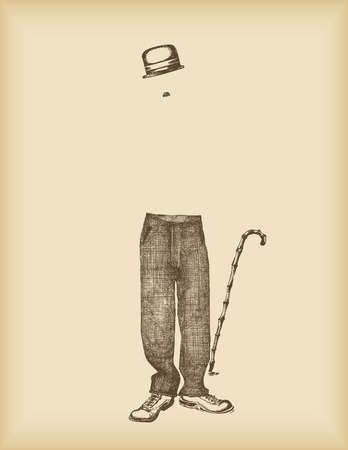 chaplin: where is Charlie? Illustration