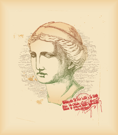 Venus head - drawing Stock Vector - 8078794