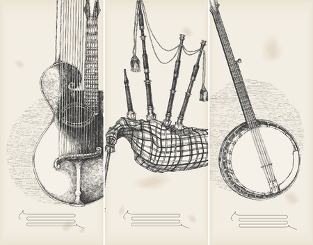banjo: music theme banners -traditional instruments