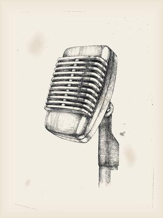 metal drawing: Microphone-drawing