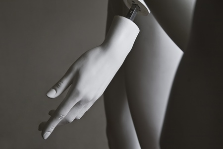 close-up of a dummy hand photo