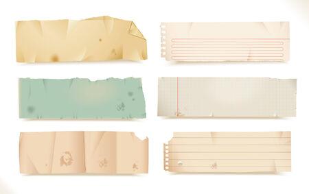 memorandum: torn paper- objects