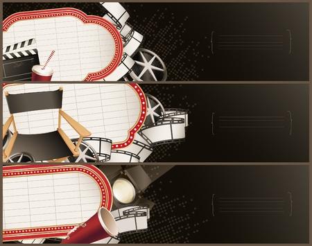 Movie theme banners - horizontal Vector