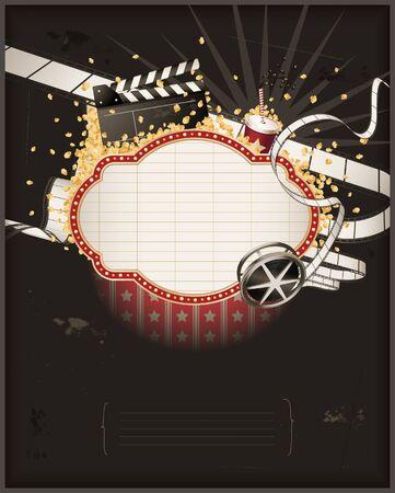 Movie theme composition Vector