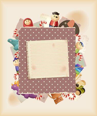quilles: Jouer le jeu. Jouets, bonbons & papier. Arri�re-plan