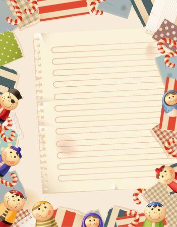 Toys- paper background Çizim