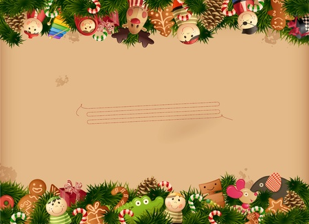Christmas - toys background Vector