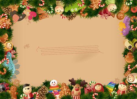 kegelen: Christmas-speelgoed achtergrond