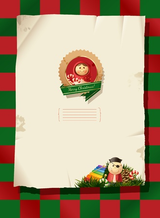 Christmas background - paper Vector