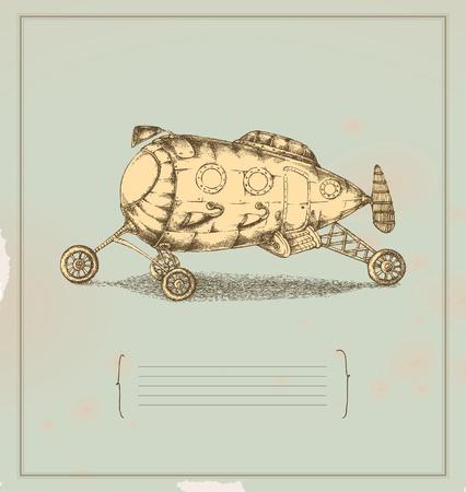 Transportation apparatus - invention - vintage drawing Stock Vector - 13152275
