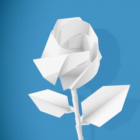 paper folding: Paper rose