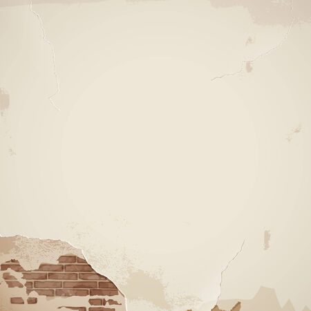 cracked wall: Old cracked wall - background - eps 10 vector