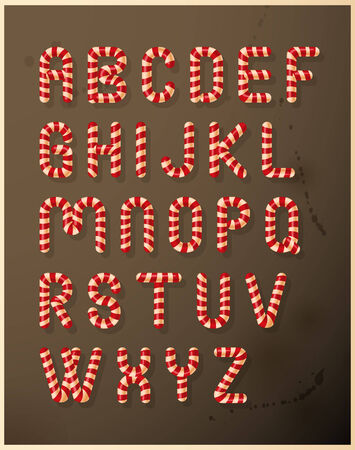 candy cane: Candy cane alphabet