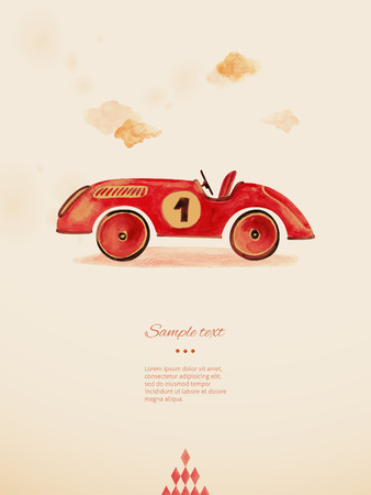 toy car: Toy car  Eps 10 Illustration