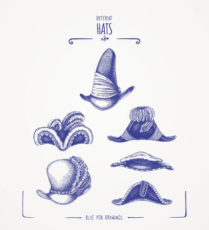 viii: Different hats Illustration