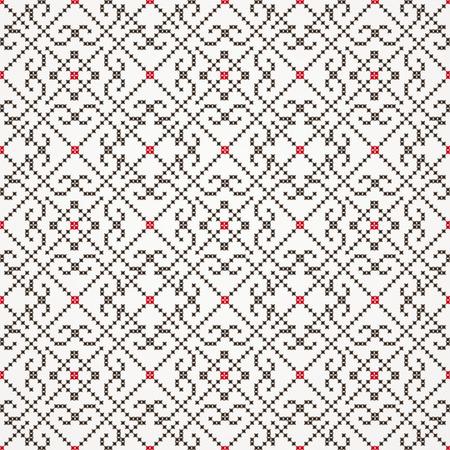 needlecraft: Traditional embroidered pattern- seamless Illustration
