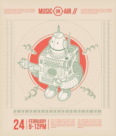 Música-en-aire. cartel tema de la música